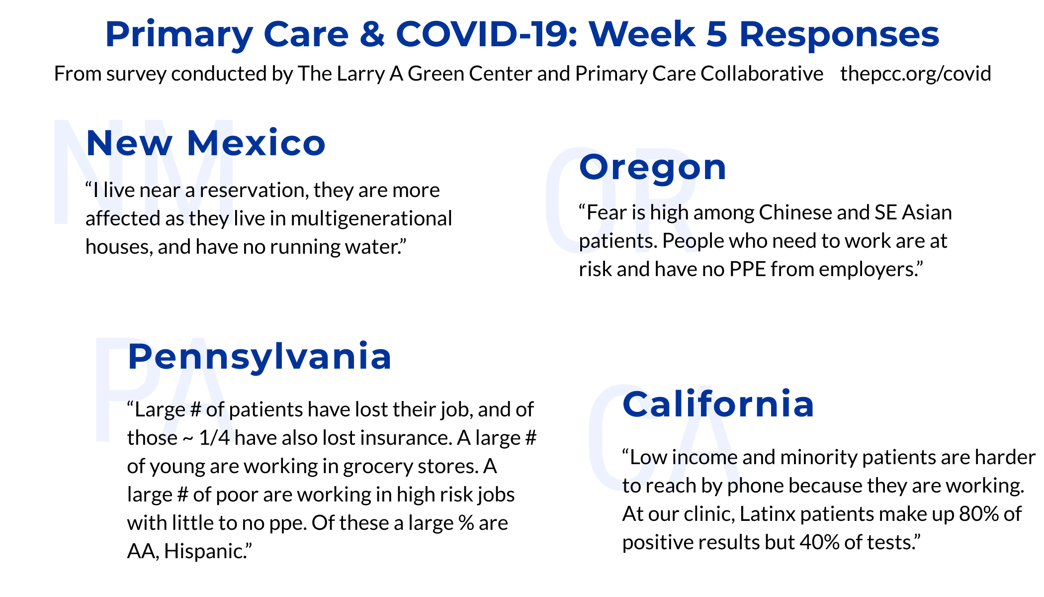 Selection of statements from clinician providing input on disparities related to COVID-19