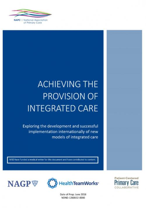 Achieving the provision of integrated care
