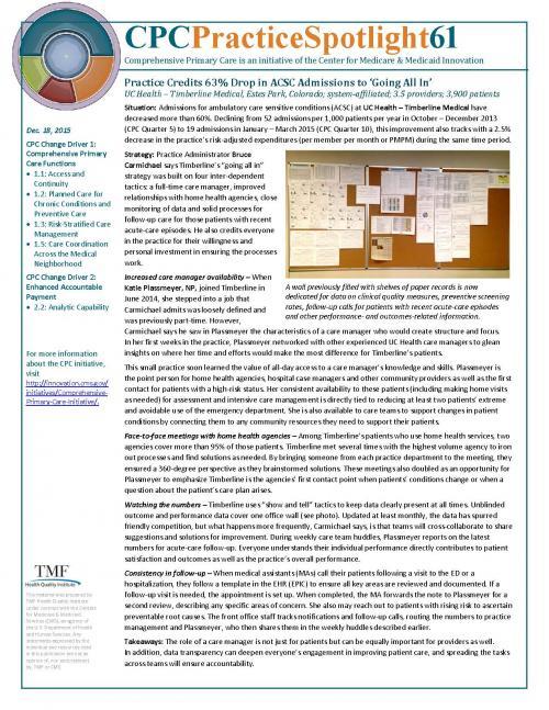 CPC Practice Spotlight 61